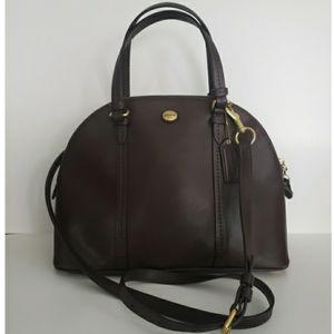 COACH Peyton Cora Domed Satchel Bag